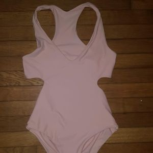 Pink Cutout One Piece Swimsuit